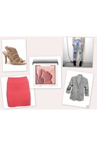 Topshop skirt - Norma Kamali blazer - Clinique accessories - stolen girlfriends