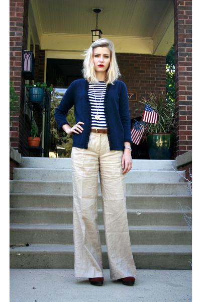 blue Target shirt - black Target skirt - gold vintage accessories - blue Levis j