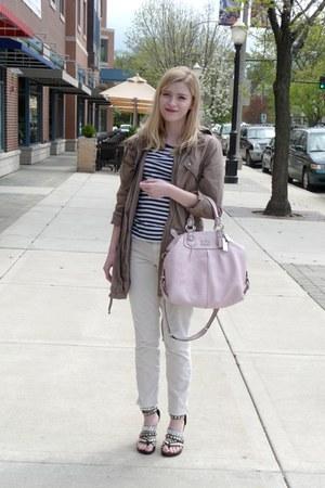 parka 212 jacket - striped Target shirt - coach coach purse - studded Ebay sanda