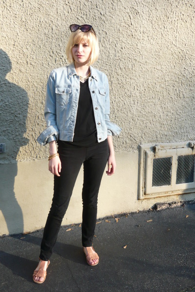 Gap jacket - Target shirt - jeans - shoes - vintage necklace - vintage from Ebay