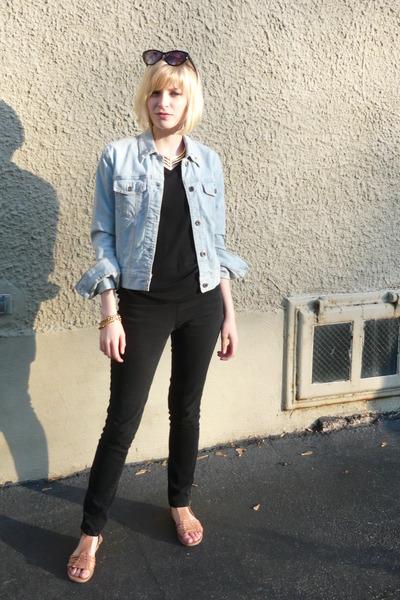 Gap jacket - Target shirt - jeans - shoes - vintage necklace - vintage from Ebay