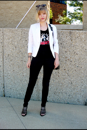 blazer - top - pants - shoes - bracelet