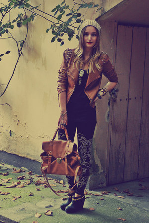 Fashion Elle jacket - Forever 21 shoes - Zara leggings