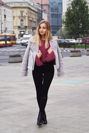 maroon Missguided sweater