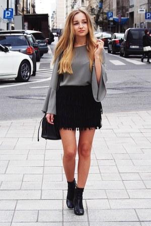 dark khaki new look blouse