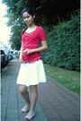 Red-lace-lee-top-white-skater-h-m-skirt-red-checkered-tommy-hilfiger-flats