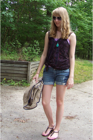 American Eagle blazer - American Eagle shorts - free people top - Old Navy shoes