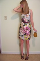 ann taylor dress - Target purse - Donald J Pliner shoes - ann taylor belt - vint