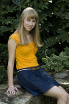 Anthropologie top - abercrombie and fitch skirt - abercrombie and fitch belt