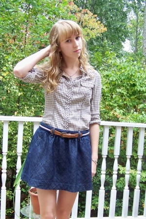 Old Navy shirt - abercrombie and fitch belt - abercrombie and fitch skirt