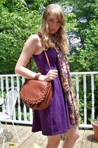 nom de plume dress - Lucky Brand purse - Nine West scarf - American Eagle bracel