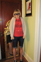 Jcrew sweater - Earnest Sewn shorts - t-shirt - thea grant accessories