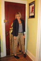 Theory blazer - Gap top - JCrew pants - Pour La Victoire shoes