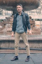 dark brown Topman jacket - crimson Floresheim shoes