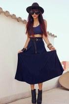 navy fann maxi ELLYSAGECOM skirt