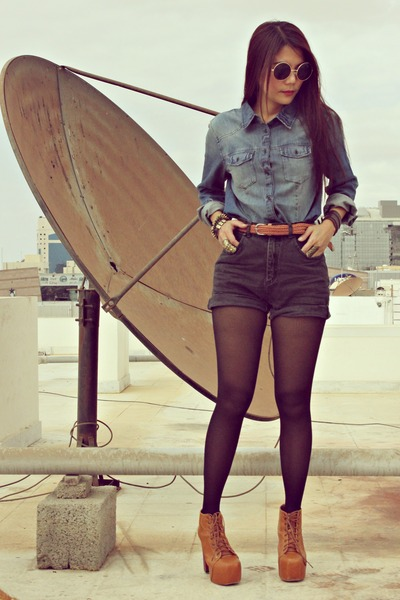 Jeans shorts high waist h&m