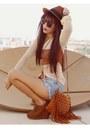 Brown-forever-21-shoes-tawny-topshop-hat-tawny-fringe-vintage-bag