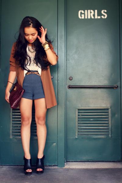 H&M shorts - vintage blazer - Forever 21 shirt - Dolce Vita clogs