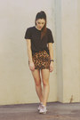 Navy-striped-t-by-alexander-wang-t-shirt-orange-leopard-print-suprÉ-skirt