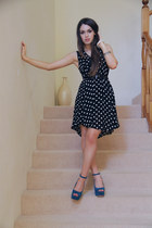 black polka dotted Salasai dress