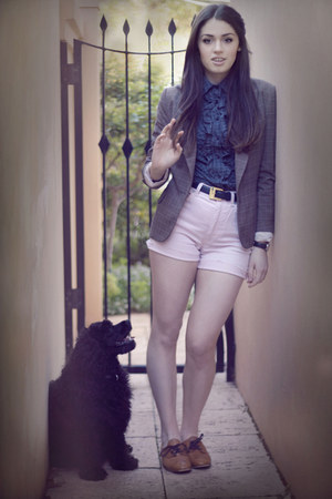 brown Zimmerman blazer - tawny Nylon shoes - light pink vintage shorts