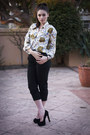 Black-topshop-pumps-silk-nautical-vintage-blouse-black-sportsgirl-pants