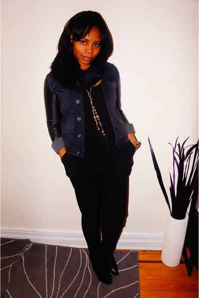 H&M necklace - H&M jacket - Aldo wedges - Forever 21 bodysuit