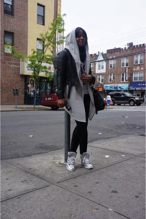 black Forever21 jacket - Loft hoodie