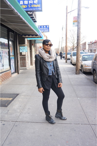 Jeff Campbell boots - Forever 21 jacket - Express leggings
