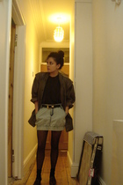 gray The Taube Collection London jacket - blue new look skirt