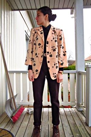 peach 80s vintage eOvuVintage blazer
