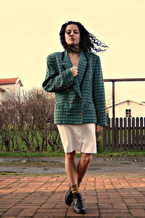 teal eOvu vintage blazer - ivory eOvu vintage dress