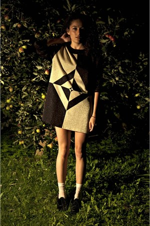 gold geometric shape eOvu vintage dress