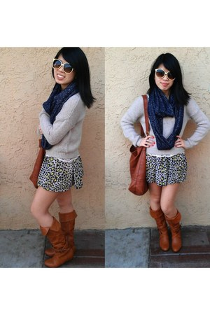beige H&M sweater - tawny H&M bag
