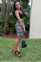 black Forever 21 dress - black GoJane shoes - black vintage purse