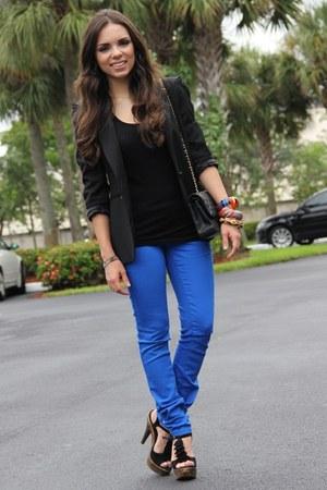 Zara blazer - Steve Madden shoes - JC Penney jeans - Chanel bag