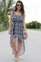 navy Fiore dress - heather gray Rebecca Minkoff bag