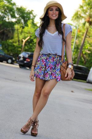 maroon Forever 21 skirt - tan Target hat - navy Forever 21 shirt