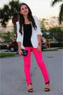 Ivory-zara-blazer-black-forever-21-top-black-zara-heels-hot-pink-zara-pant