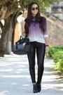 Black-bcbg-boots-black-leatherette-beginning-boutique-leggings