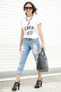 Sky-blue-boyfriend-dittos-jeans-white-limtied-edition-furor-moda-shirt