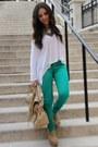 Green-jc-penney-jeans-tan-mimi-boutique-bag-tan-xiomara-lisette-wedges