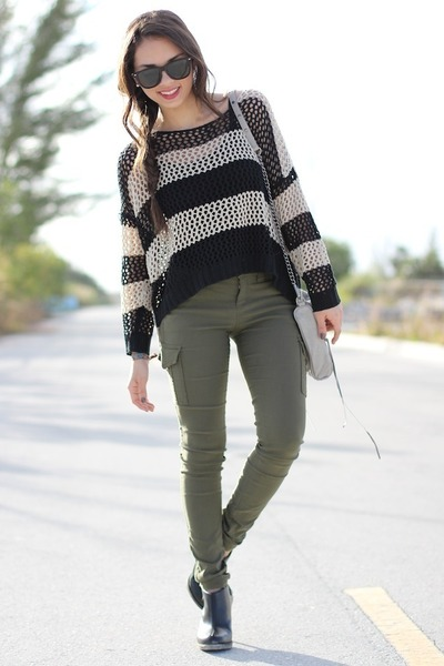 Army Green Express Pants | Chictopia