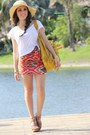 Tan-target-hat-carrot-orange-as-skirt-forever-21-scarf-mustard-mimi-boutique