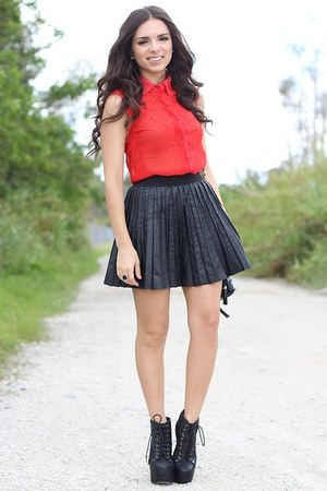 black beginning boutique skirt - black Jeffrey Campbell shoes