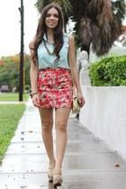 red beginning boutique skirt - tan xiomara lisette shoes
