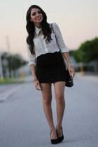 Forever 21 skirt - Steve Madden shoes - Vintage Thrifted bag - Forever 21 blouse