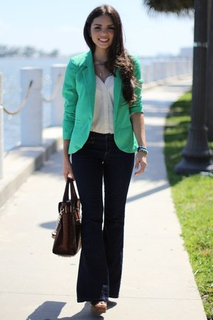 chartreuse furor moda blazer - brown mia shoes shoes - navy Forever 21 jeans
