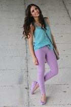 periwinkle Lamb and Flag jeans - light blue Lamb and Flag shirt