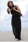 Black-nine-west-shoes-black-maxi-forever-21-dress-nude-fedora-agaci-hat